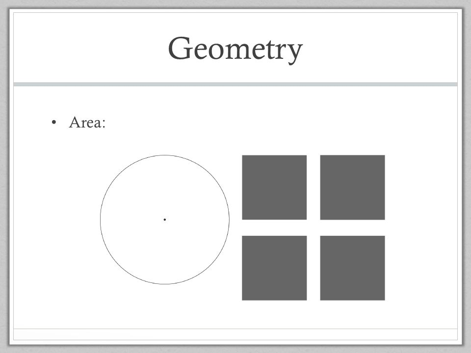 Geometry Area: TEd
