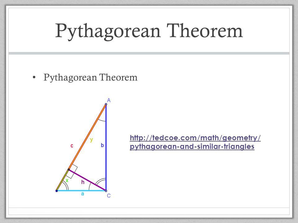 Pythagorean Theorem Pythagorean Theorem