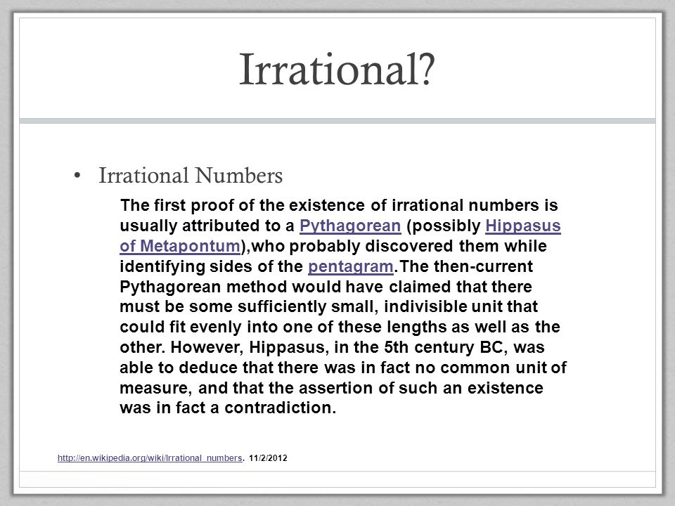 Irrational Irrational Numbers