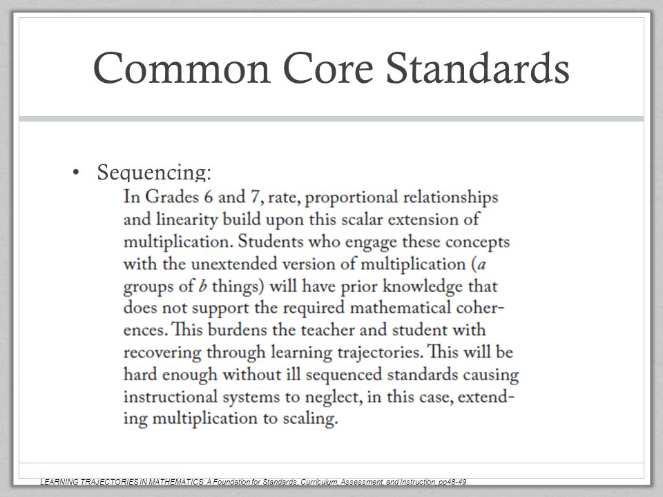 Common Core Standards Sequencing: Scott