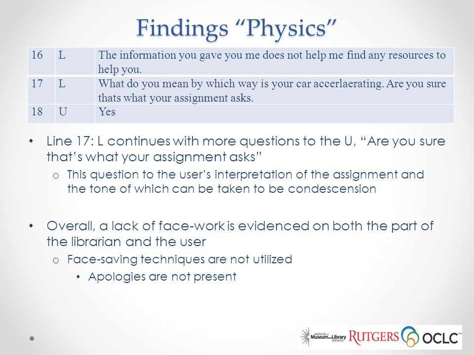 Findings Physics 16. L. The information you gave you me does not help me find any resources to help you.