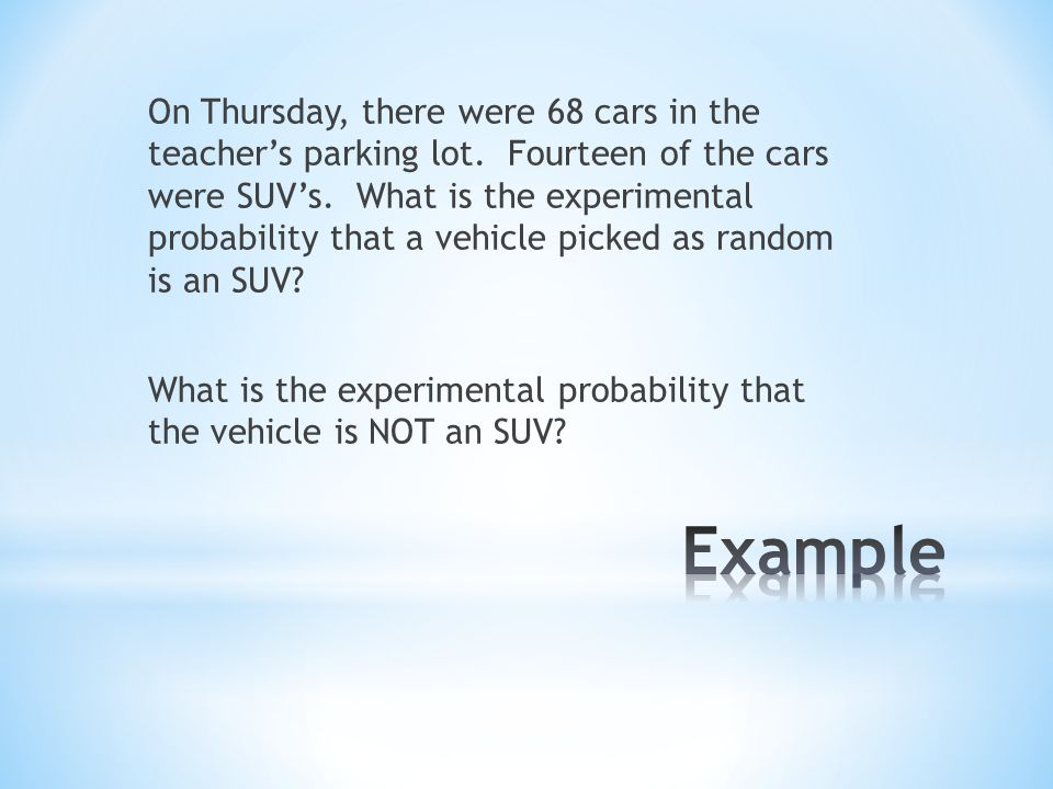 On Thursday, there were 68 cars in the teacher's parking lot