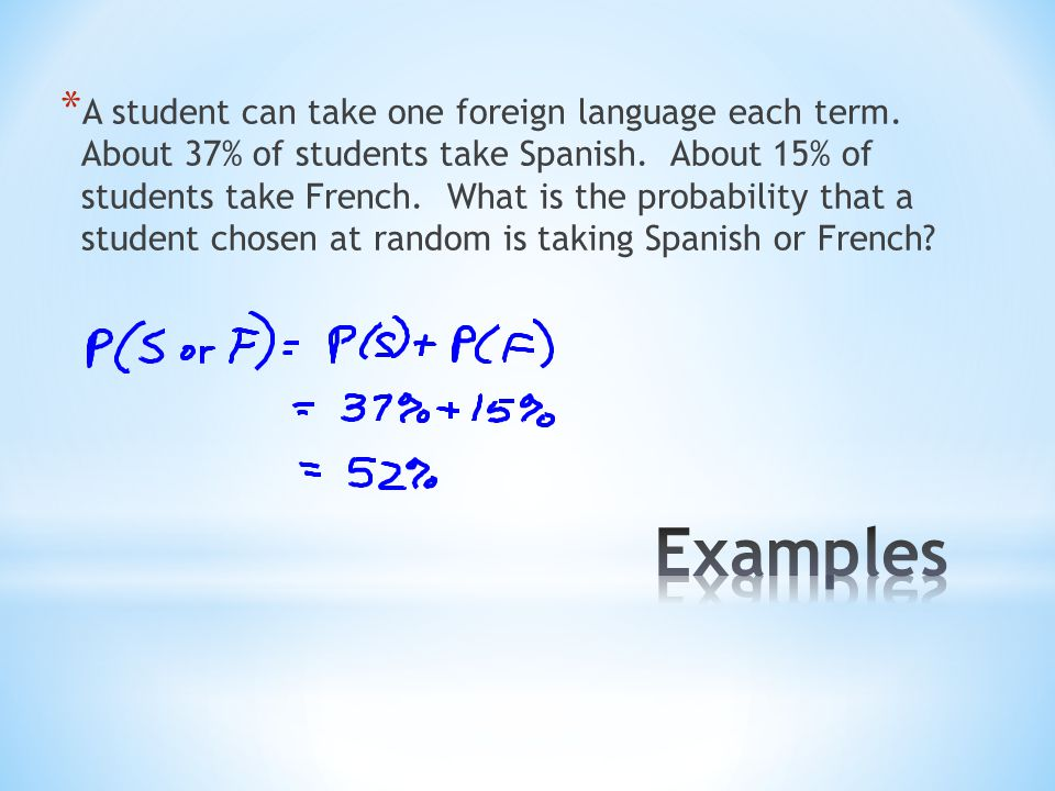 A student can take one foreign language each term