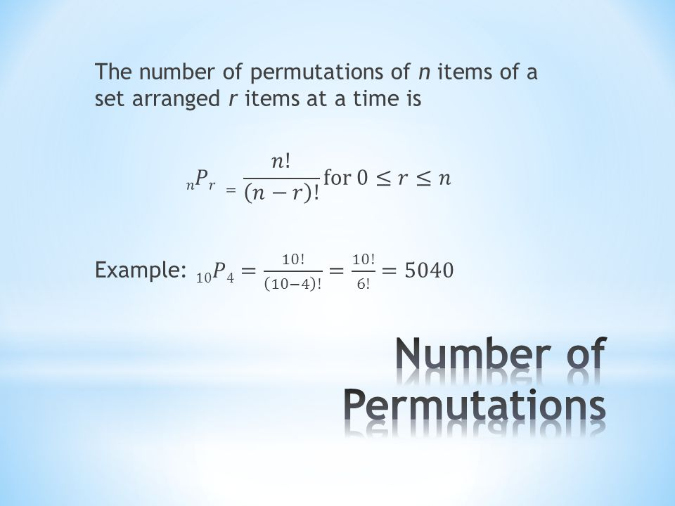 Number of Permutations
