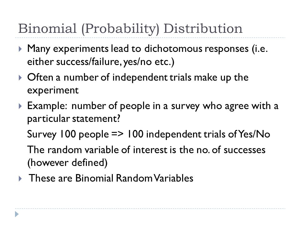 Binomial (Probability) Distribution