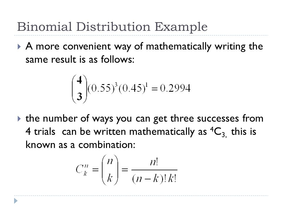Binomial Distribution Example