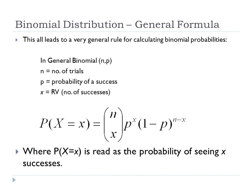 Binomial Distribution – General Formula