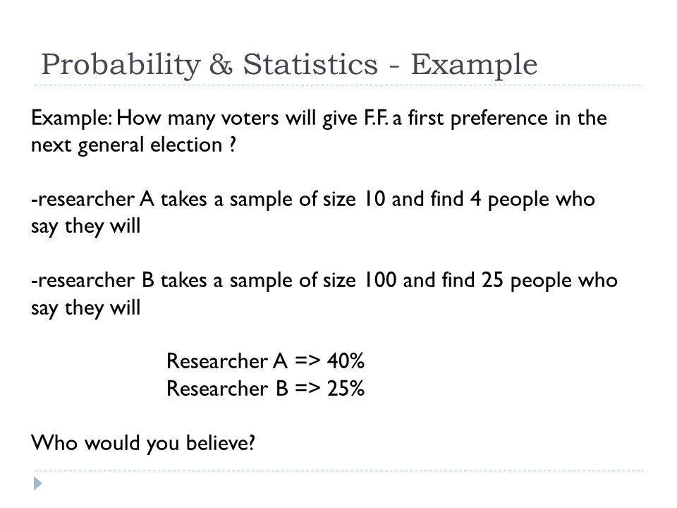 Probability & Statistics - Example
