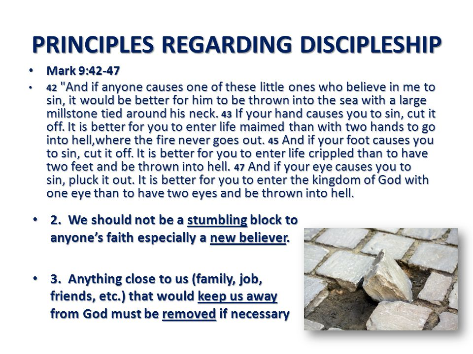 PRINCIPLES REGARDING DISCIPLESHIP