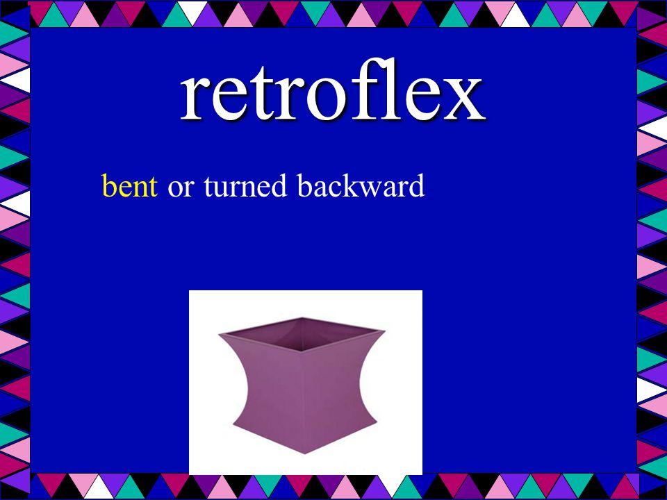 retroflex bent or turned backward