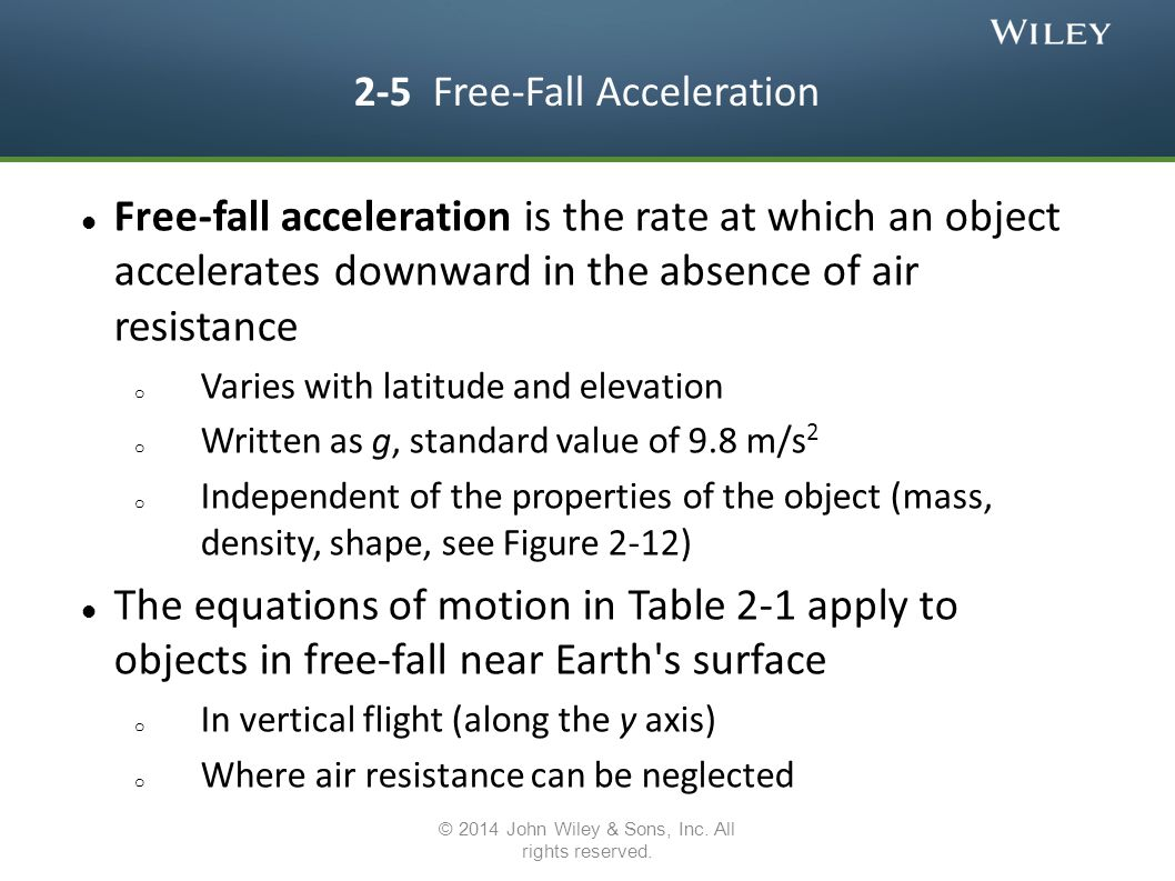 2-5 Free-Fall Acceleration