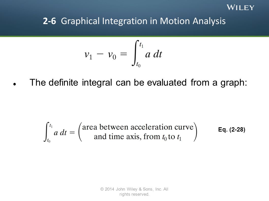 2-6 Graphical Integration in Motion Analysis
