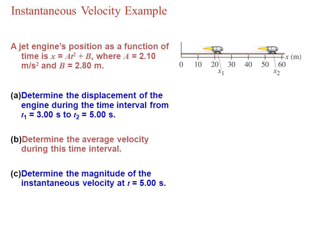Instantaneous Velocity Example