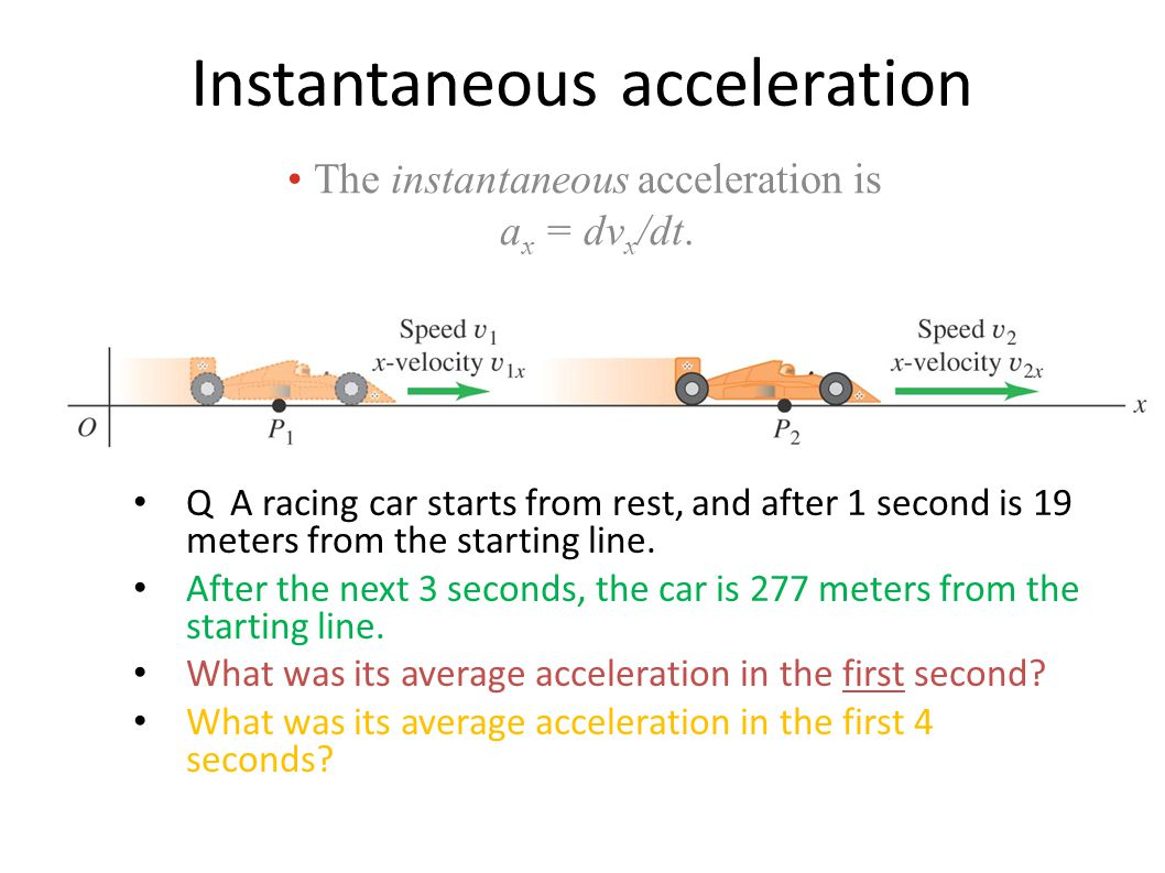 Instantaneous acceleration