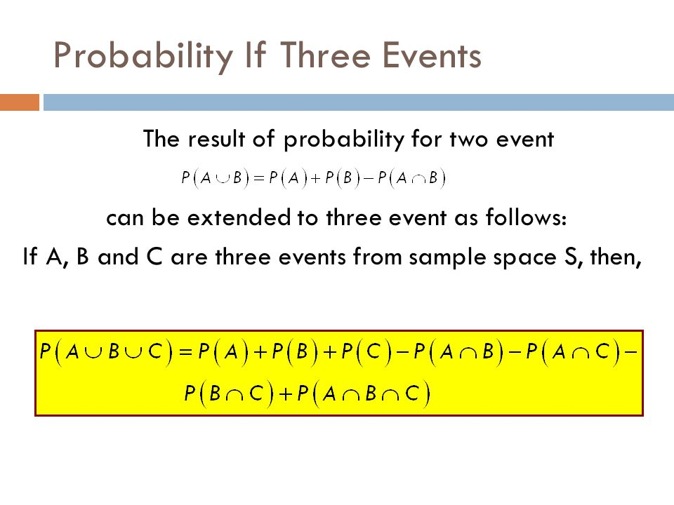 Probability If Three Events
