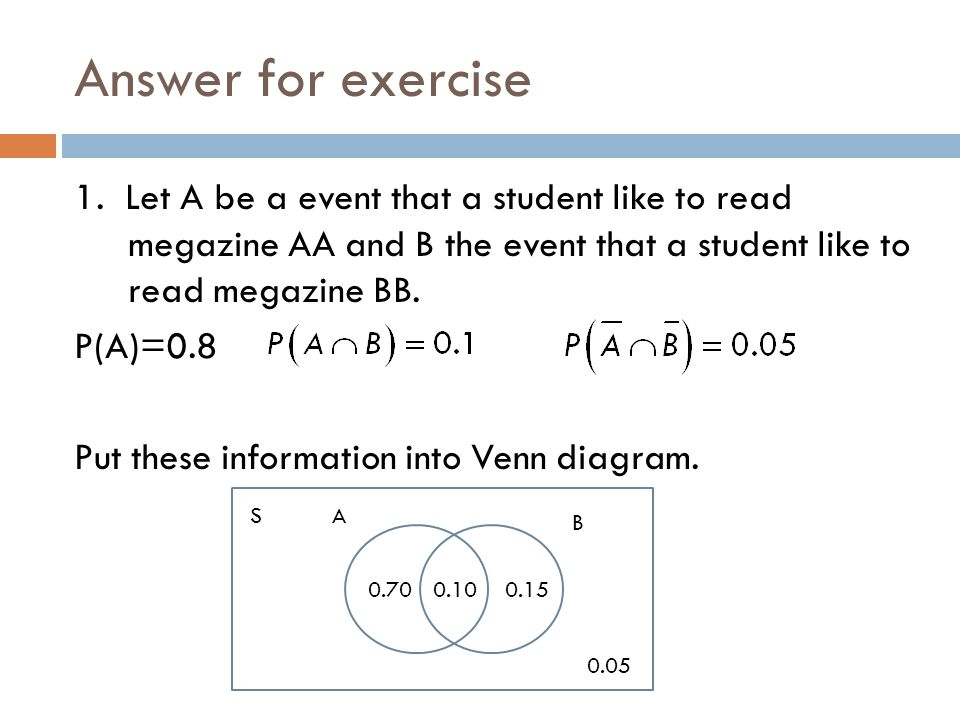 Answer for exercise