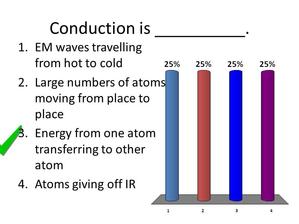 Conduction is __________.