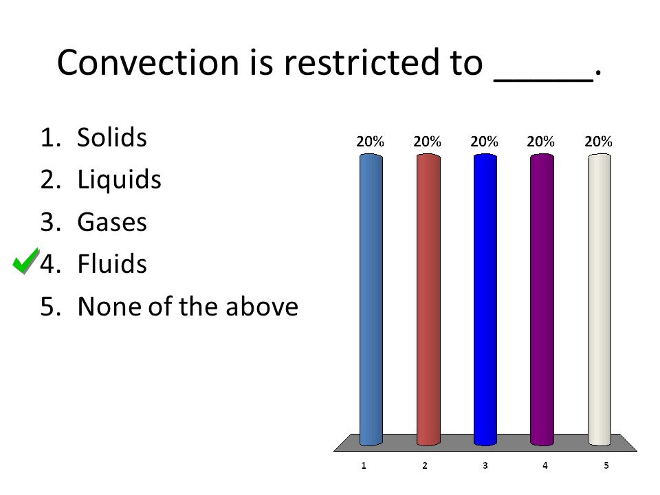 Convection is restricted to _____.
