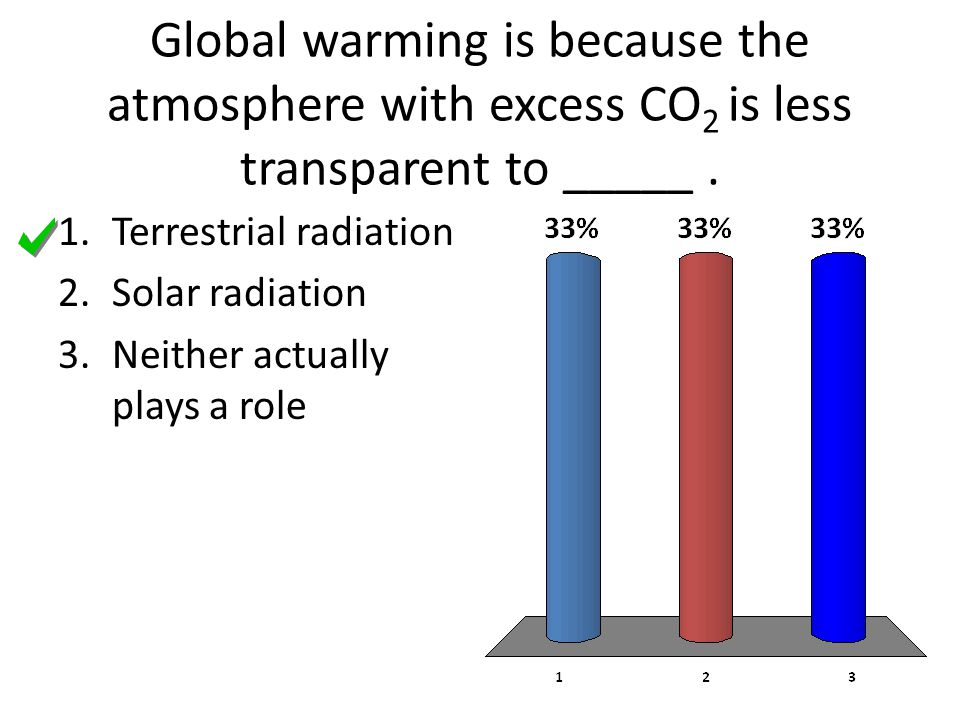 Global warming is because the atmosphere with excess CO2 is less transparent to _____ .