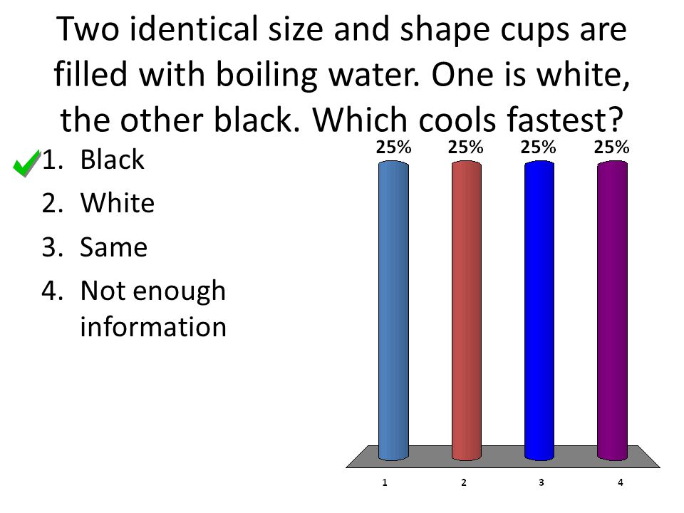 Two identical size and shape cups are filled with boiling water