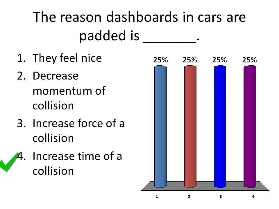 The reason dashboards in cars are padded is _______.