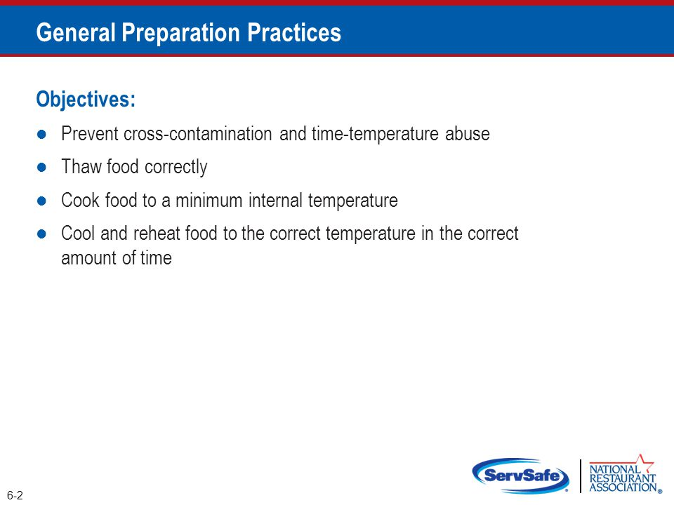 General Preparation Practices