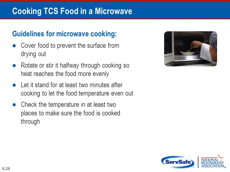 Cooking TCS Food in a Microwave