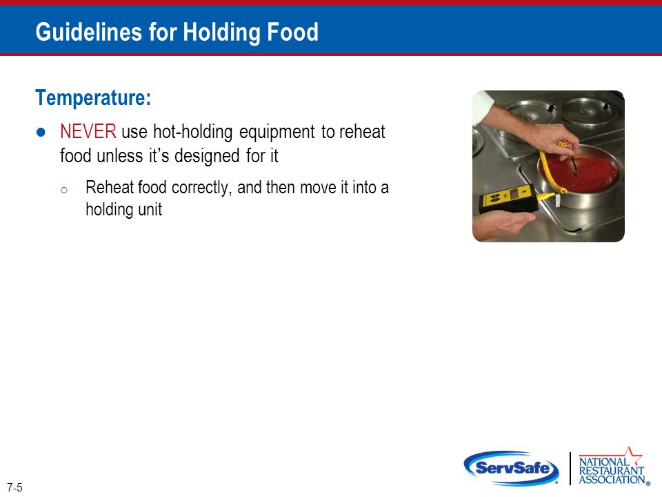 Guidelines for Holding Food