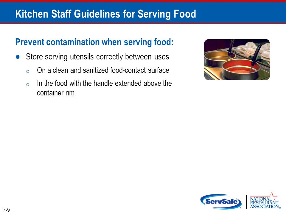 Kitchen Staff Guidelines for Serving Food