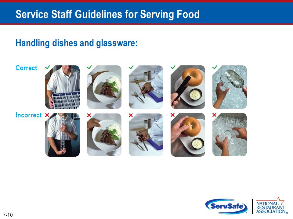 Service Staff Guidelines for Serving Food