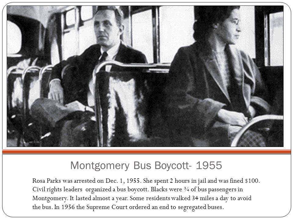 Montgomery Bus Boycott- 1955