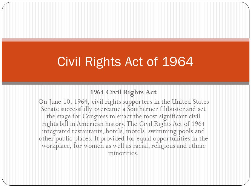 Civil Rights Act of 1964 1964 Civil Rights Act