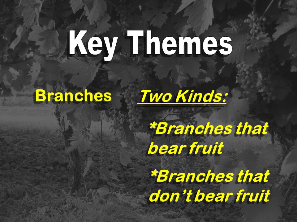 *Branches that bear fruit