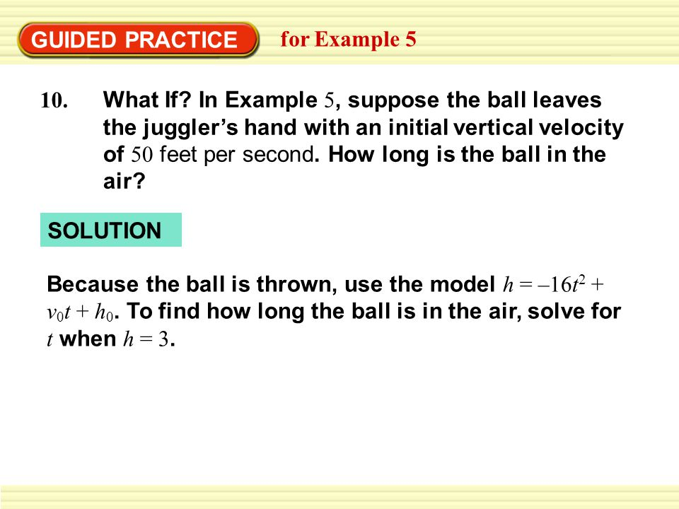 GUIDED PRACTICE for Example 5.