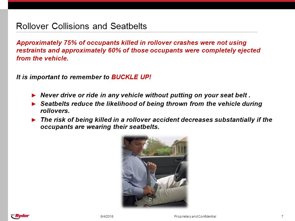Rollover Collisions and Seatbelts