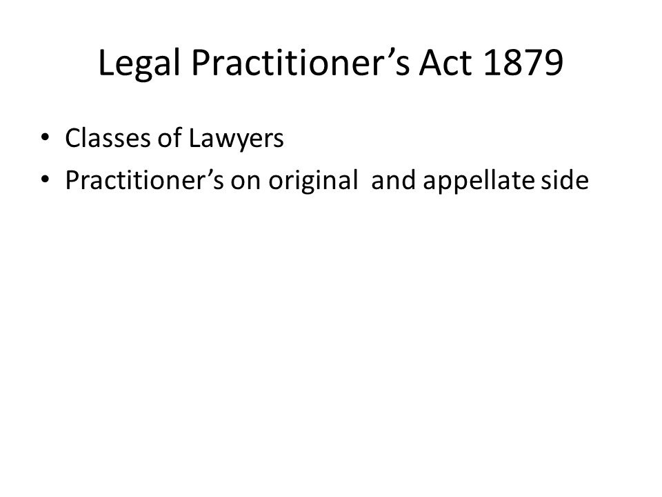 Legal Practitioner's Act 1879
