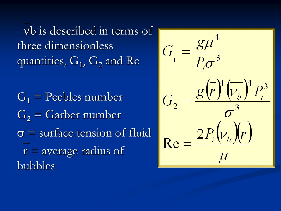 b is described in terms of three dimensionless quantities, G1, G2 and Re