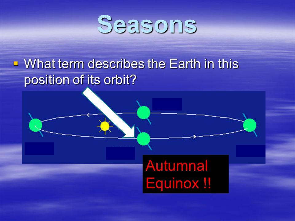 Seasons Autumnal Equinox !!