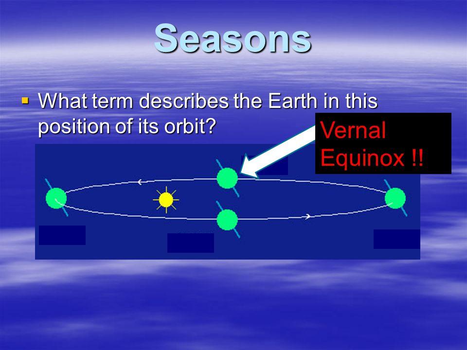 Seasons Vernal Equinox !!