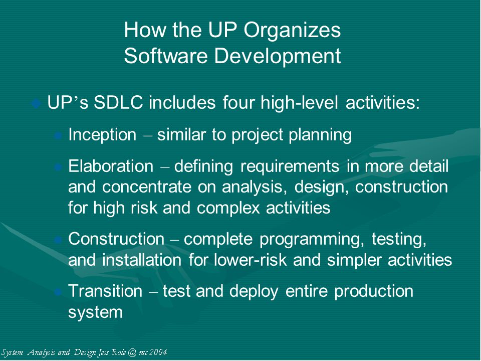 How the UP Organizes Software Development