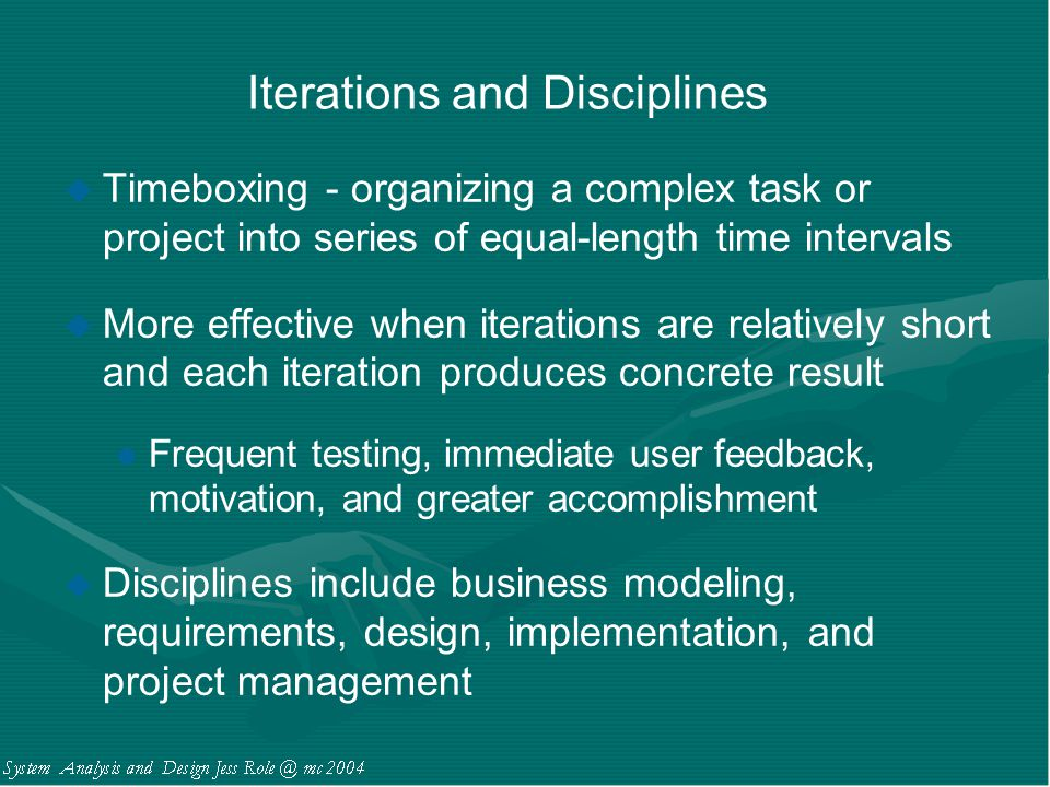 Iterations and Disciplines