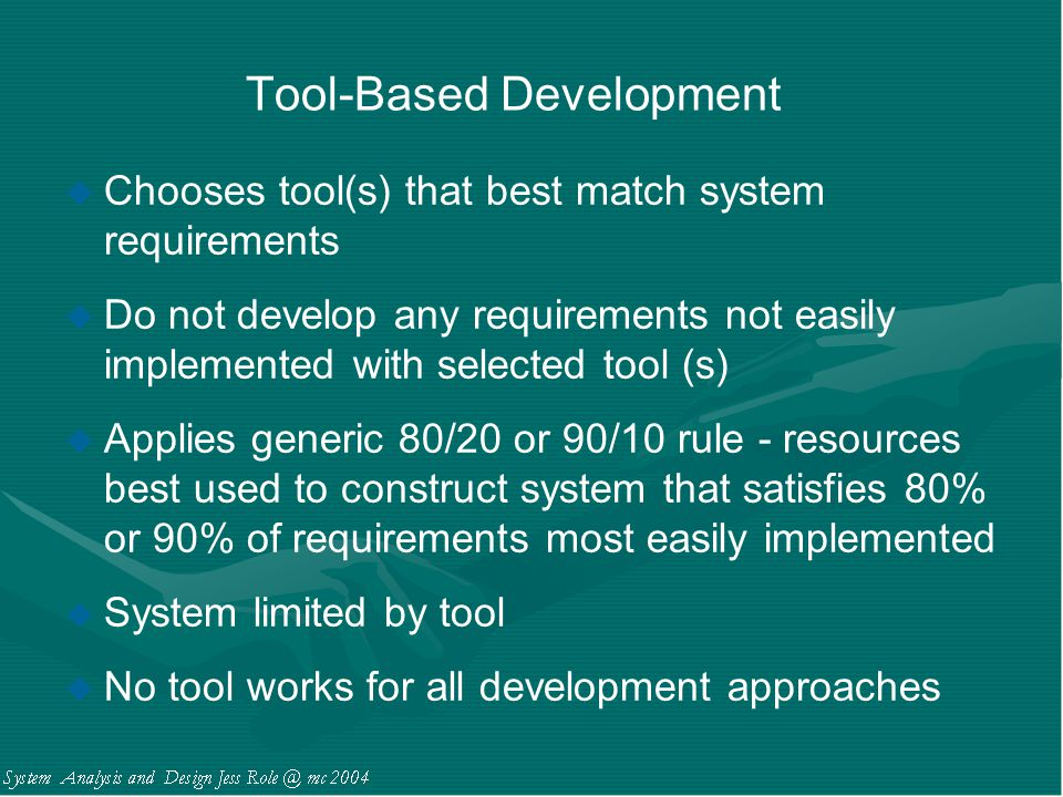 Tool-Based Development