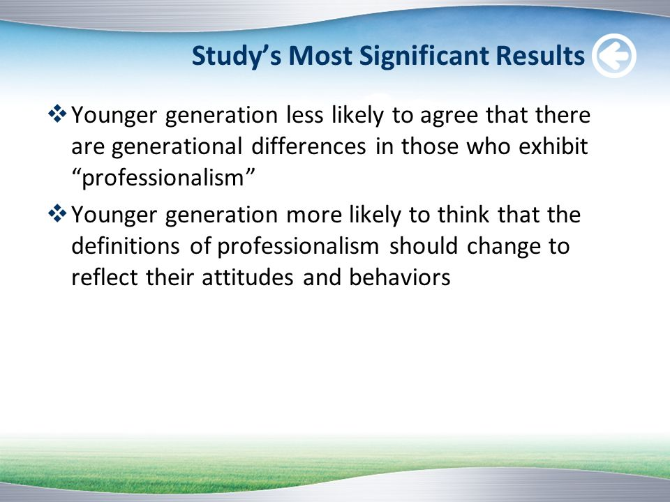 Study's Most Significant Results