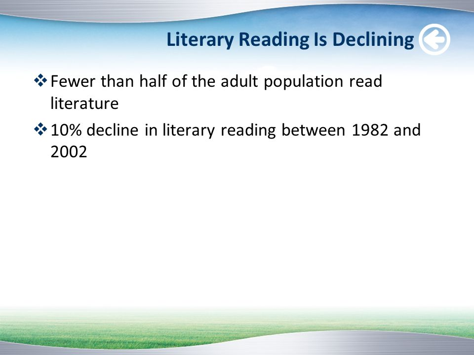 Literary Reading Is Declining