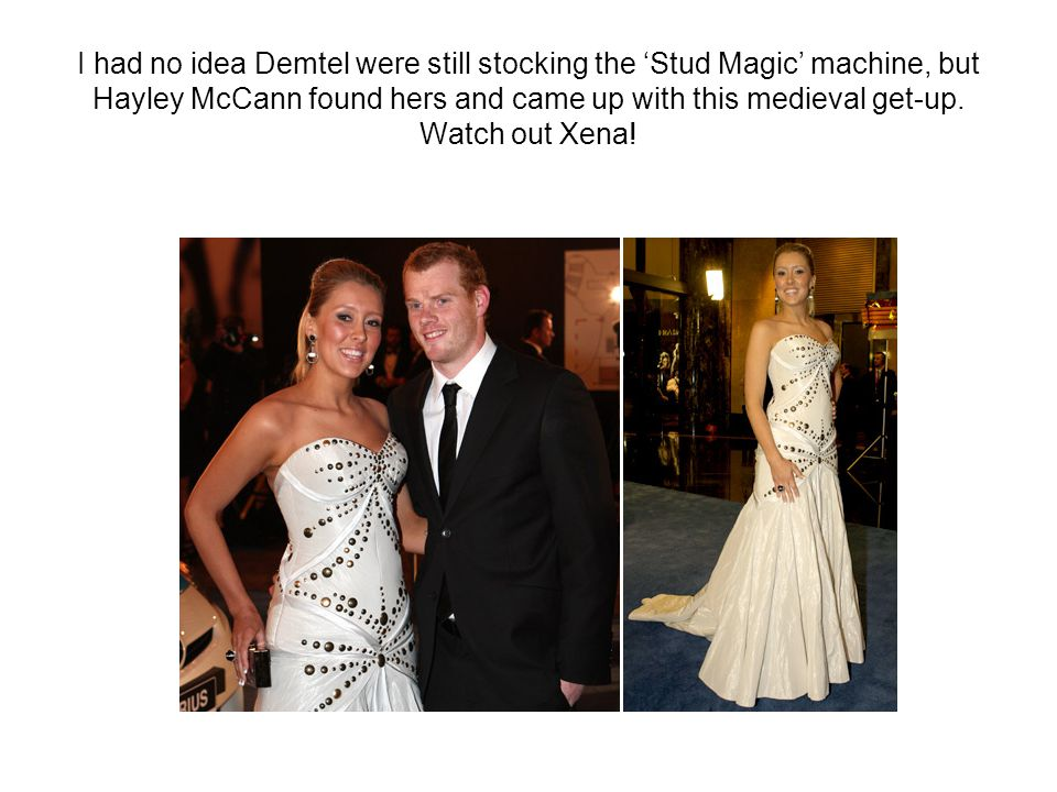 I had no idea Demtel were still stocking the 'Stud Magic' machine, but Hayley McCann found hers and came up with this medieval get-up.