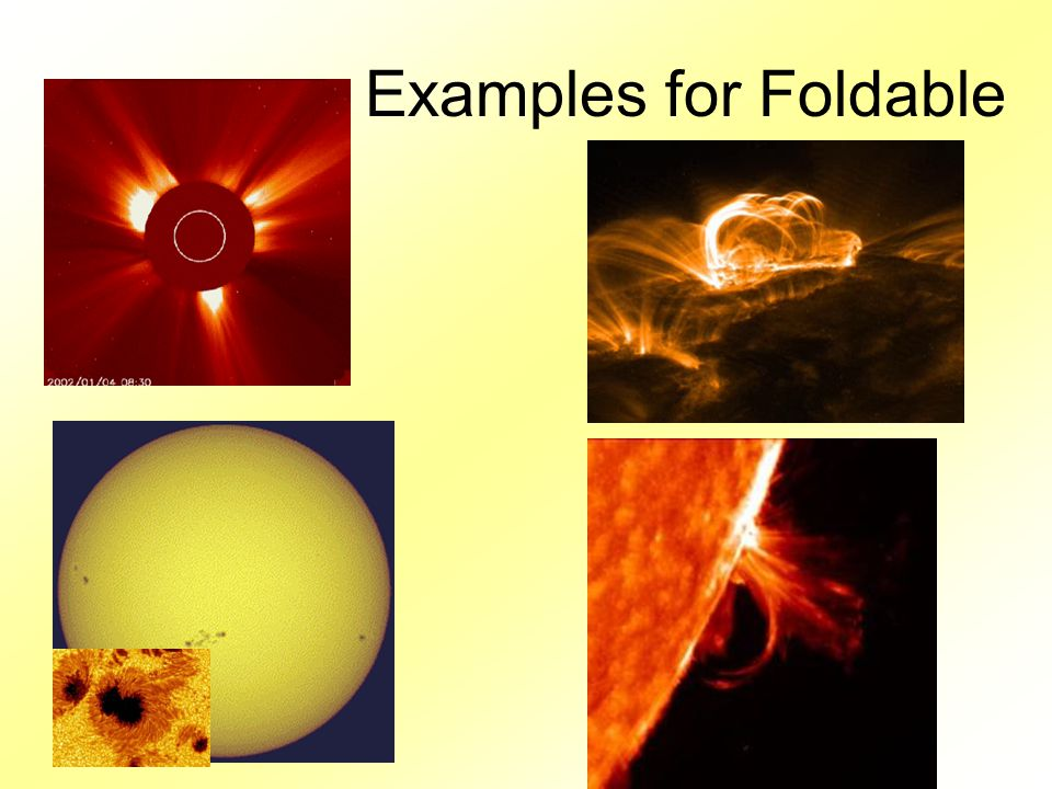 Examples for Foldable