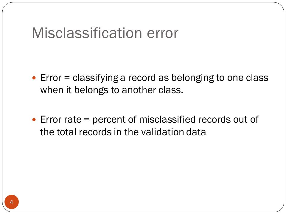 Misclassification error