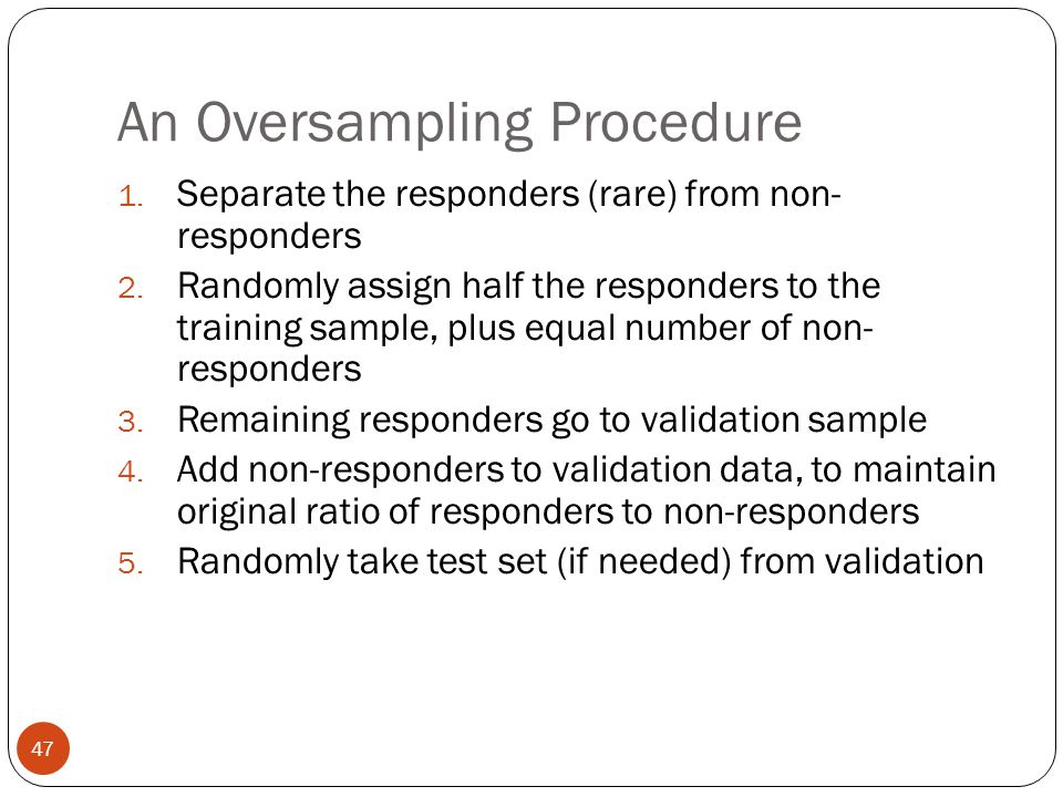 An Oversampling Procedure