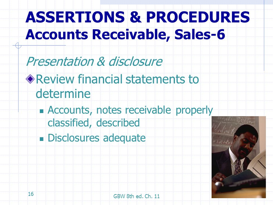ASSERTIONS & PROCEDURES Accounts Receivable, Sales-6