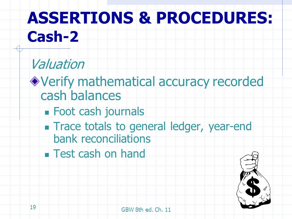 ASSERTIONS & PROCEDURES: Cash-2